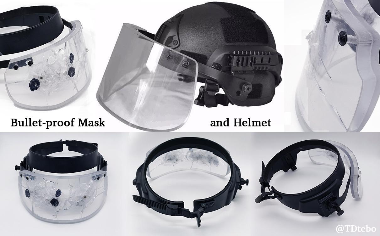 Ballistic face mask and helmet